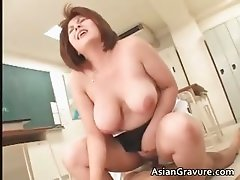Nasty oriental teacher with giant boobs part3