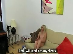 skeletal blondie fucking on fake casting