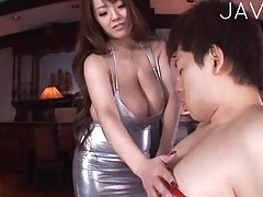 Big Breasted Babe Giving Head