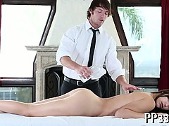 Satisfying playgirl with massage