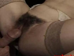 Hairy Italian milf gets her muff nailed