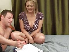 Babe gets pussy loving action
