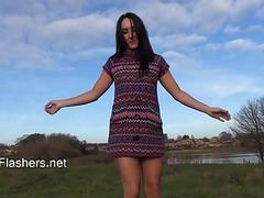 Exhibitionist Chloe Lovettes public flashing
