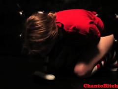 Lezdom mistress humiliates her slave