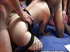 Gangbang party in a swingers club