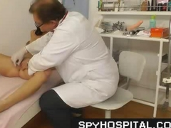 Voyeur video of pussy check-up
