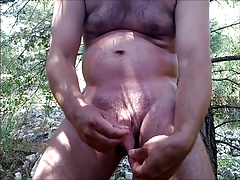 I like play hard with my cock and balls in the nature...