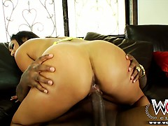 Big booty babe loves a big cock and a creampie