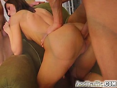 Cute Monica is getting an insanely intense anal workout as