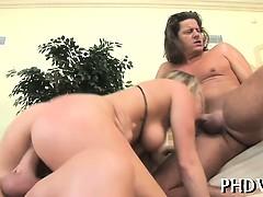 Guy bangs her tight ass
