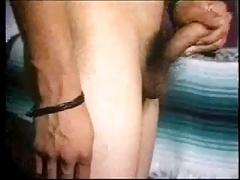Horny Latin Papi Humps and Wanks in White OTC Socks