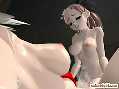 Shemale 3D anime with bigboobs hot fucking