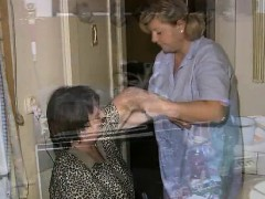 Horny grandma is showered by nasty part5