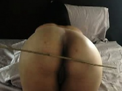 my sub gets Ass caned and fucked