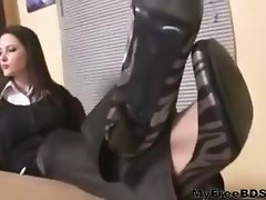 Nylon Boss Feet Worship bdsm bondage slave femdom domination